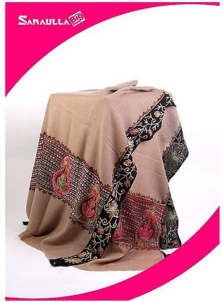 Fawn Embroidered Pashmina Shawls for women - SW 214
