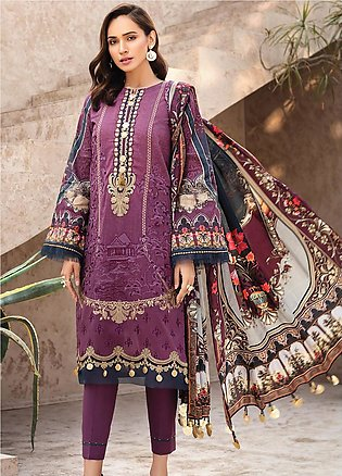 IRIS by Jazmin Embroidered Lawn Unstitched 3 Piece Suit JZ20I 8 - Summer Coll...