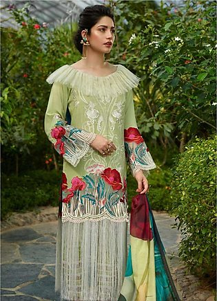 Asifa & Nabeel Embroidered Viscose Unstitched 3 Piece Suit AN19W 5G GUL - Win...