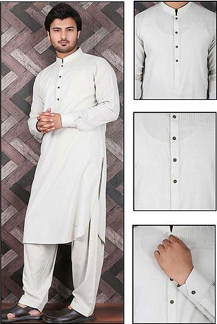 Aizaz Zafar Wash N Wear Formal Shalwar Kameez for Men - 685 Fawn
