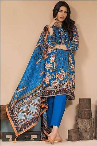 Zeen By Cambridge Embroidered Linen Unstitched 3 Piece Suit ED17W 377019
