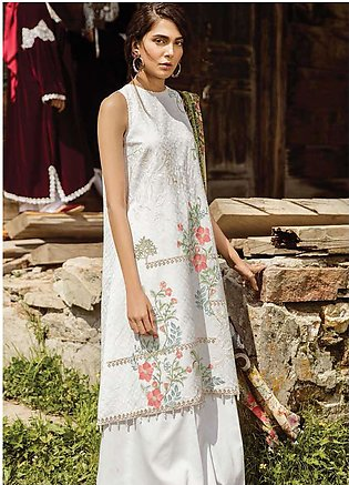 Zara Shahjahan Embroidered Lawn Unstitched 3 Piece Suit ZSM18L 03 - Luxury Co...
