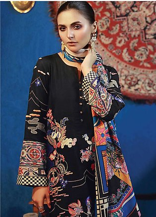 RajBari Embroidered Khaddar Unstitched 3 Piece Suit RB18K 6B - Winter Collection