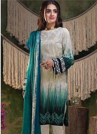 Salitex Embroidered Lawn Unstitched 3 Piece Suit ST19ZL 316A - Summer Collection
