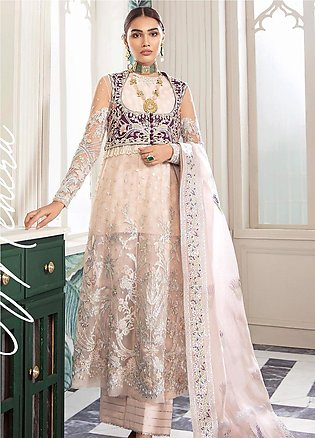 Freesia by Suffuse Embroidered Net Unstitched 3 Piece Suit FRS19W Mehera - We...