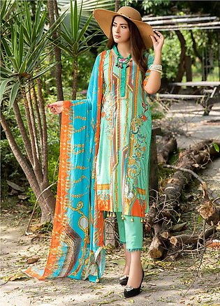 Umang by Motifz Embroidered Lawn Unstitched 3 Piece Suit UMT20L 2551 Pearl Aqua…