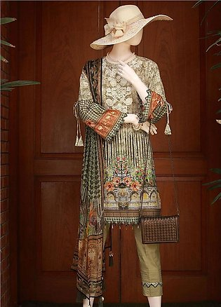 Saya Embroidered Lawn Unstitched 3 Piece Suit SY18F 6B - Festive Collection