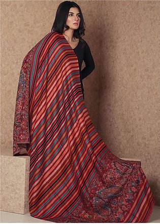 Sanaulla Exclusive Range Embroidered Pashmina Shawl 19-MIR-171 Multi - Kashmi...