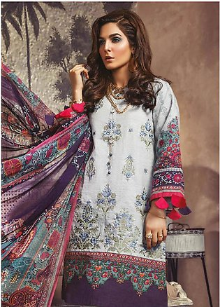 Maria B Embroidered Khaddar Unstitched 3 Piece Suit MBP19WE 708 B - Winter Co...