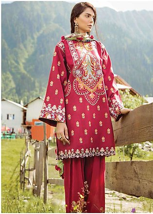 Zara Shahjahan Embroidered Lawn Unstitched 3 Piece Suit ZSM18L 06 - Luxury Co...