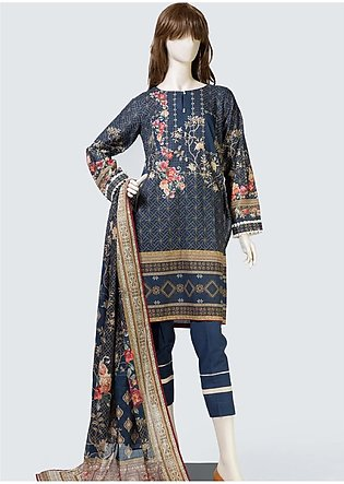 Saya Printed Lawn Unstitched 3 Piece Suit SY19S 5A - Summer Collection