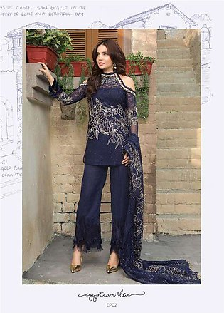 Epoque Suffuse by Sana Yasir Embroidered Chiffon Unstitched 3 Piece Suit ESY1...