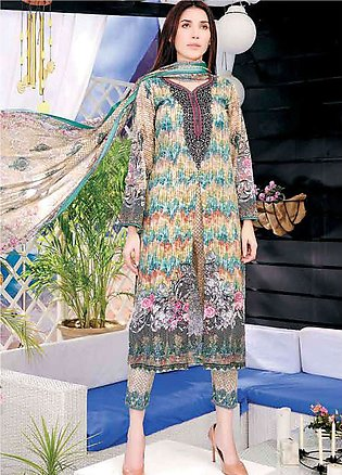 Five Star Printed Lawn Unstitched 3 Piece Suit FS19L 1217C - Spring / Summer ...