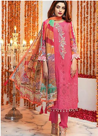 Zinnia by Rang Rasiya Embroidered Lawn Unstitched 3 Piece Suit ZRR20F 60022 B...