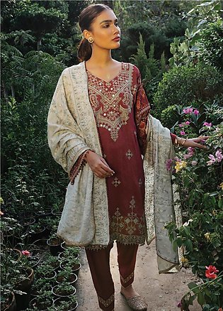 Rehab By Qalamkar Embroidered Jacquard Unstitched 3 Piece Suit QLM19R 06 SHEE...