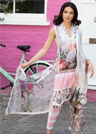 Sobia Nazir Embroidered Lawn Unstitched 3 Piece Suit SN20L 5B - Summer Collec...