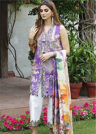 Crimson Embroidered Lawn Unstitched 3 Piece Suit CRM19L 4B - Spring / Summer ...