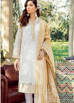 Gul Ahmed Printed Organza Unstitched 3 Piece Suit GA20FH FE-262 - Festive Colle…