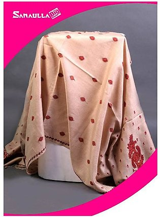 Fawn Embroidered Pashmina Shawls for women - SW 235
