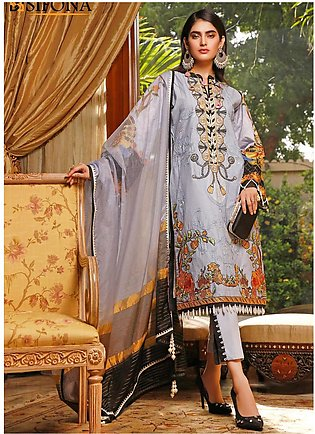 Marjaan by Sifona Embroidered Lawn Unstitched 3 Piece Suit MJ20SF 08 - Luxury...