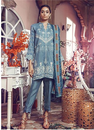 RajBari Embroidered Jacquard Unstitched 3 Piece Suit RB19WF 2A - Winter Colle...