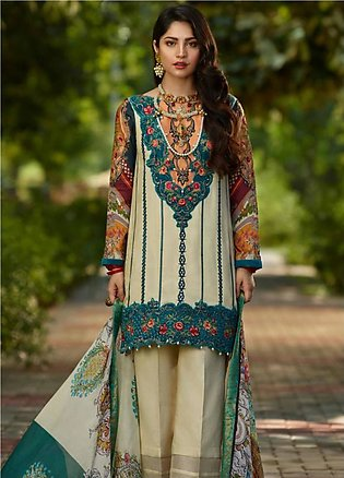 Asifa & Nabeel Embroidered Crape Unstitched 3 Piece Suit AN19W 3J RANG - Wint...