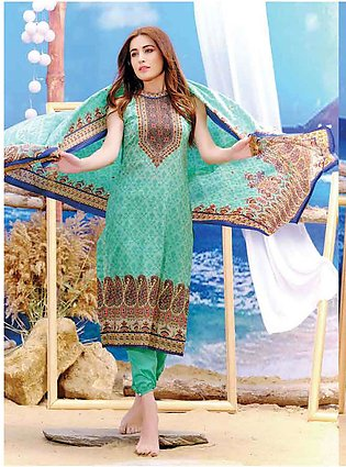 Five Star Printed Lawn Unstitched 3 Piece Suit FS19L 1202A - Spring / Summer ...