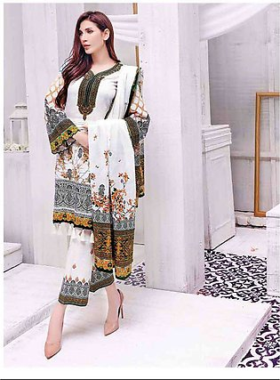 Five Star Printed Lawn Unstitched 3 Piece Suit FS19L 1203A - Spring / Summer ...