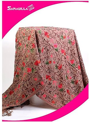 Fawn Embroidered Pashmina Shawls for ladies - SW 213