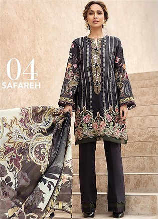 IRIS by Jazmin Embroidered Lawn Unstitched 3 Piece Suit JZ20I 4 - Summer Coll...