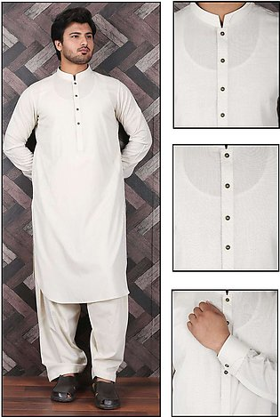 Aizaz Zafar Wash N Wear Formal Men Shalwar Kameez - 685 Beige