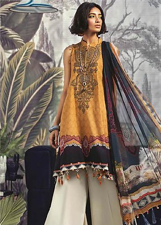 Maria B Embroidered Khaddar Unstitched 3 Piece Suit MBP19WE 701 A - Winter Co...