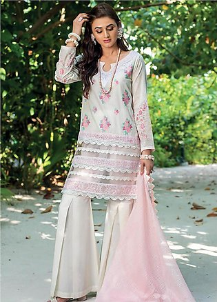 Zainab Chottani Embroidered Lawn Unstitched 3 Piece Suit ZC20LL 3B - Luxury C...