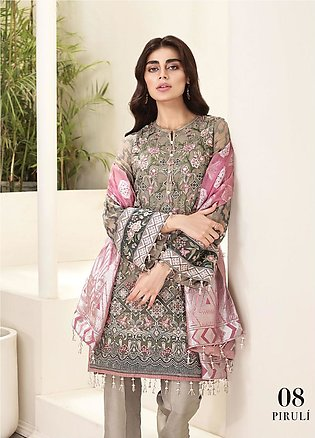 Jazmin Embroidered Chiffon Unstitched 3 Piece Suit JZ20AL 8 - Luxury Collection