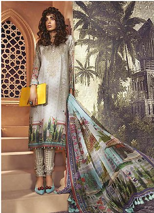 Maria B Embroidered Karandi Unstitched 3 Piece Suit MBP19WE 709 A - Winter Co...
