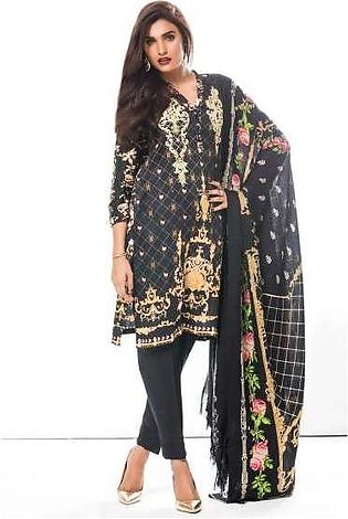 Zeen By Cambridge Embroidered Linen Unstitched 3 Piece Suit ED17W 377023