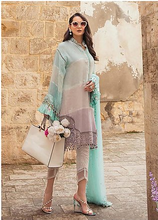 Maria B Embroidered Woven Yarn Suits Unstitched 3 Piece MB21L 12-B - Summer Col…