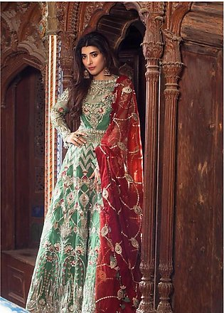 Saira Rizwan Embroidered Organza Unstitched 3 Piece Suit SR19NW HENNA - Brida...