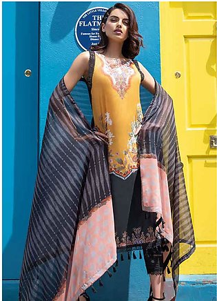 Sobia Nazir Embroidered Lawn Unstitched 3 Piece Suit SN20L 4B - Summer Collec...