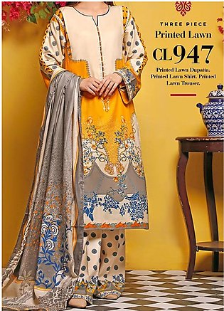 Baraan by Gul Ahmed Printed Lawn Unstitched 3 Piece Suit BGA20MS CL-947 - Summe…