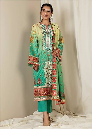 Zellbury Embroidered Lawn Unstitched 3 Piece Suit ZB21L Wusce-870 - Summer Coll…