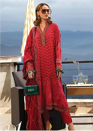 Maria B Embroidered Linen Unstitched 3 Piece Suit MB19W 1 - Winter Collection