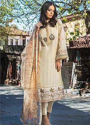 Gul Ahmed Embroidered Cotton Unstitched 3 Piece Suit GAG19F EA-72 - Festive Col…