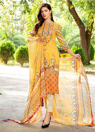 Umang by Motifz Embroidered Lawn Unstitched 3 Piece Suit UMT20L 2548 Soft Yello…