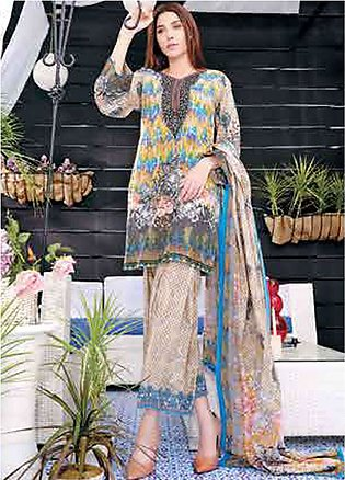 Five Star Printed Lawn Unstitched 3 Piece Suit FS19L 1217A - Spring / Summer ...