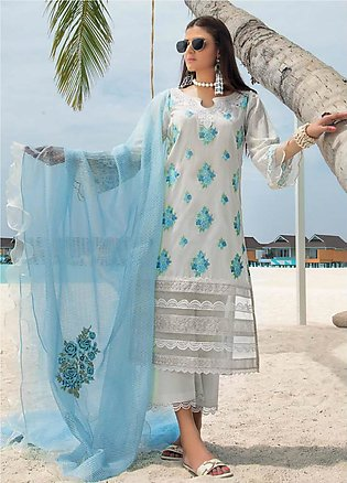 Zainab Chottani Embroidered Lawn Unstitched 3 Piece Suit ZC20LL 3A - Luxury C...