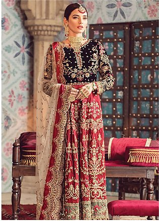 Zohra by Gulaal Embroidered Velvet Unstitched 3 Piece Suit GL19WE 03 AABROO -...