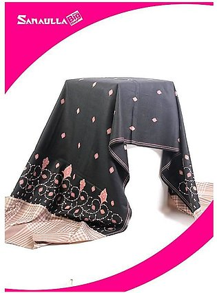 Black Embroidered Pashmina Shawls for ladies - SW 238