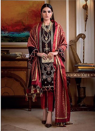 Gul Ahmed Embroidered Velvet Unstitched 3 Piece Suit GA19NC VLW 20 ZARDOZI - ...