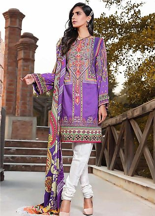 AMAL by Motifz Embroidered Linen Unstitched 3 Piece Suit AMT19LK 2401 Amethyst …